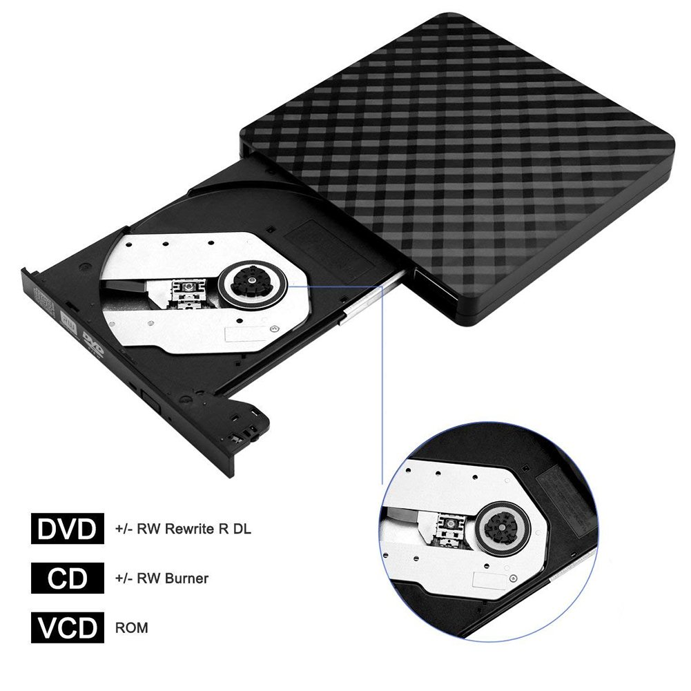 Aoile DVD Drive High Speed Data Transfer USB 3.0 External CD DVD Reader Writer Player for Laptop Desktop Macbook by Aoile (Image #6)