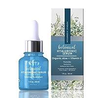 Hyaluronic Acid Serum for Face, Repairs Damaged Skin, With Vitamin C, E, Jojoba...