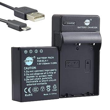 DSTE BLH-1 Li-ion Batería Traje y cargador micro USB para Olympus EM1 MARK II