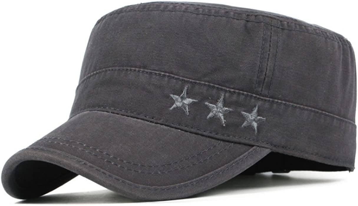 6d833b8c ... Cadet Hat Military Flat Top Adjustable Baseball Cap (Black. Back.  Double-tap to zoom