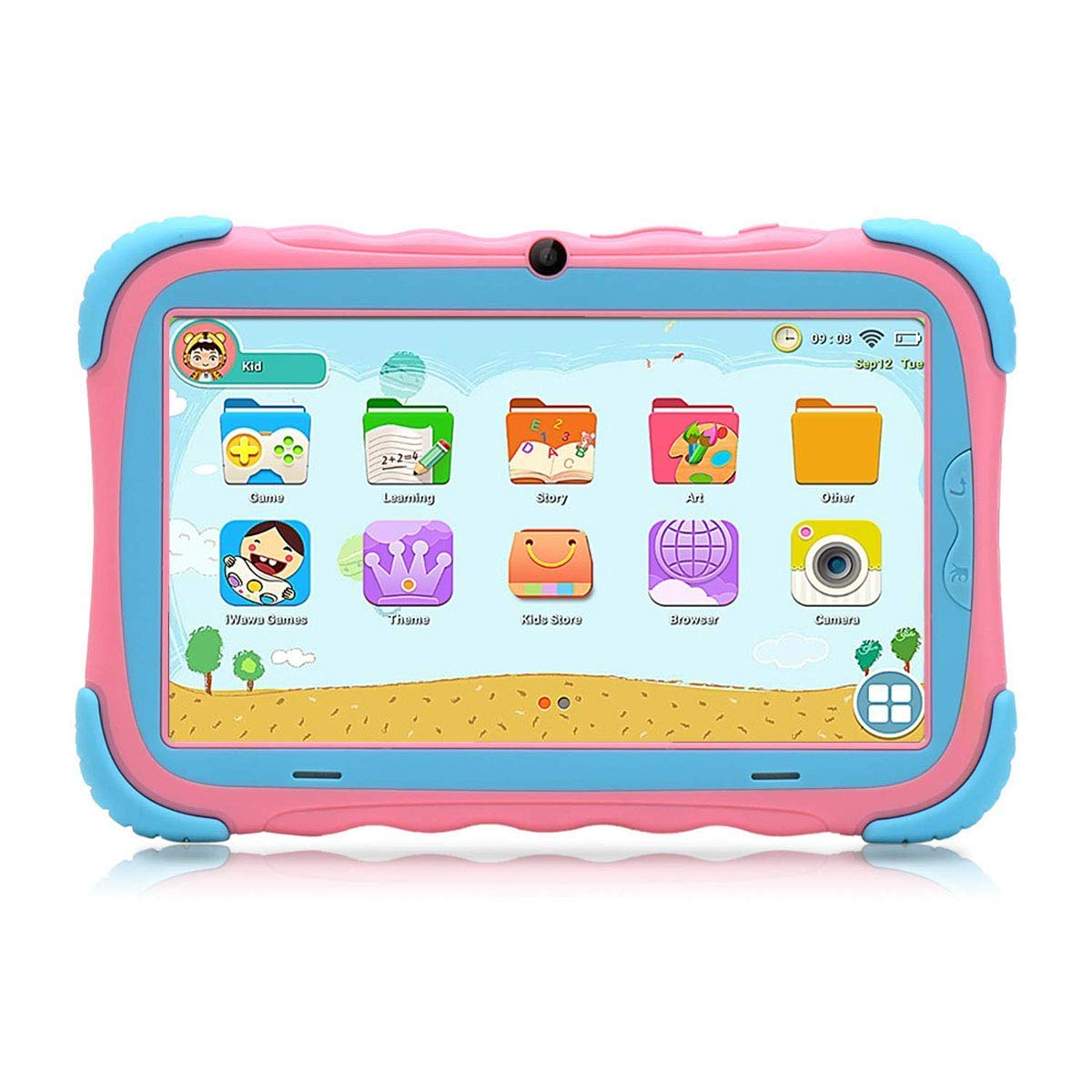 Tablet para Niños 7 Pulgadas Android 7.1 Quad Core 16GB Google Play Store Pantalla IPS HD WiFi Bluetooth y Doble Cámara Certificación Babypad GMS ...
