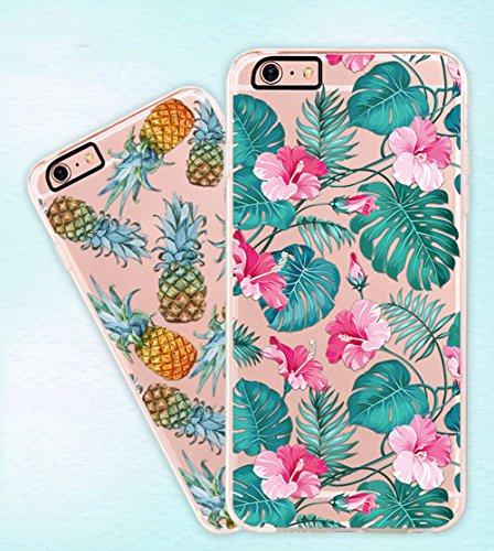 Hosaire Coque Soft TPU Silicone Ultra-thin Phone Case Housse pour iPhone 6 6s Créatif Motif de Ananas Étui Cover de Protection de Téléphone Case pour iPhone 6 6s