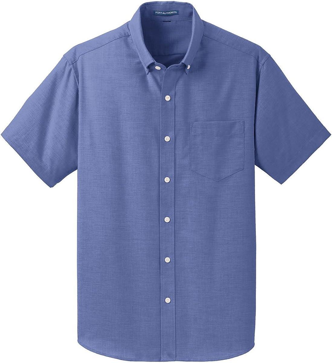 Port Authority Mens Short Sleeve SuperPro Oxford Shirt