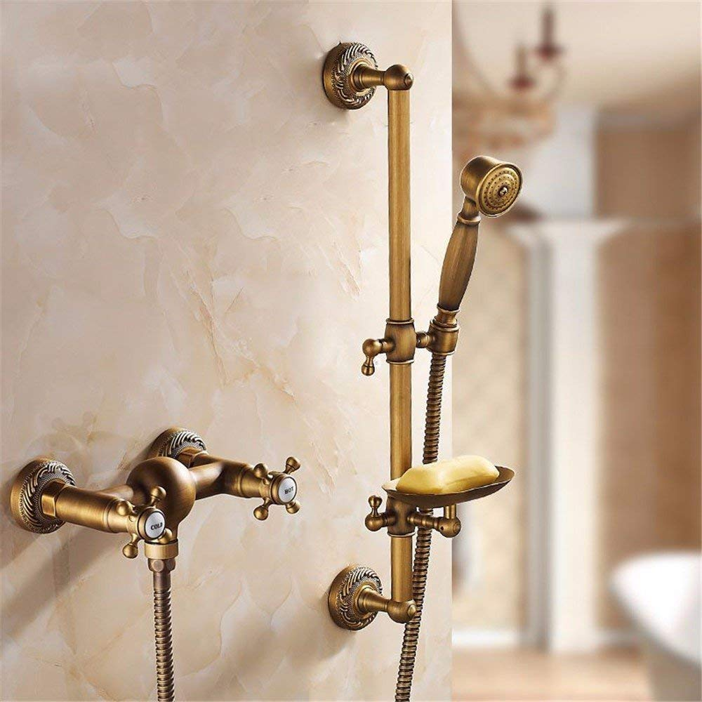 K Wall mounting Brass Antique Glass Frames, to The Wall Assemblies faucets in The Bath, Hand Shower Head & Shower taps, V