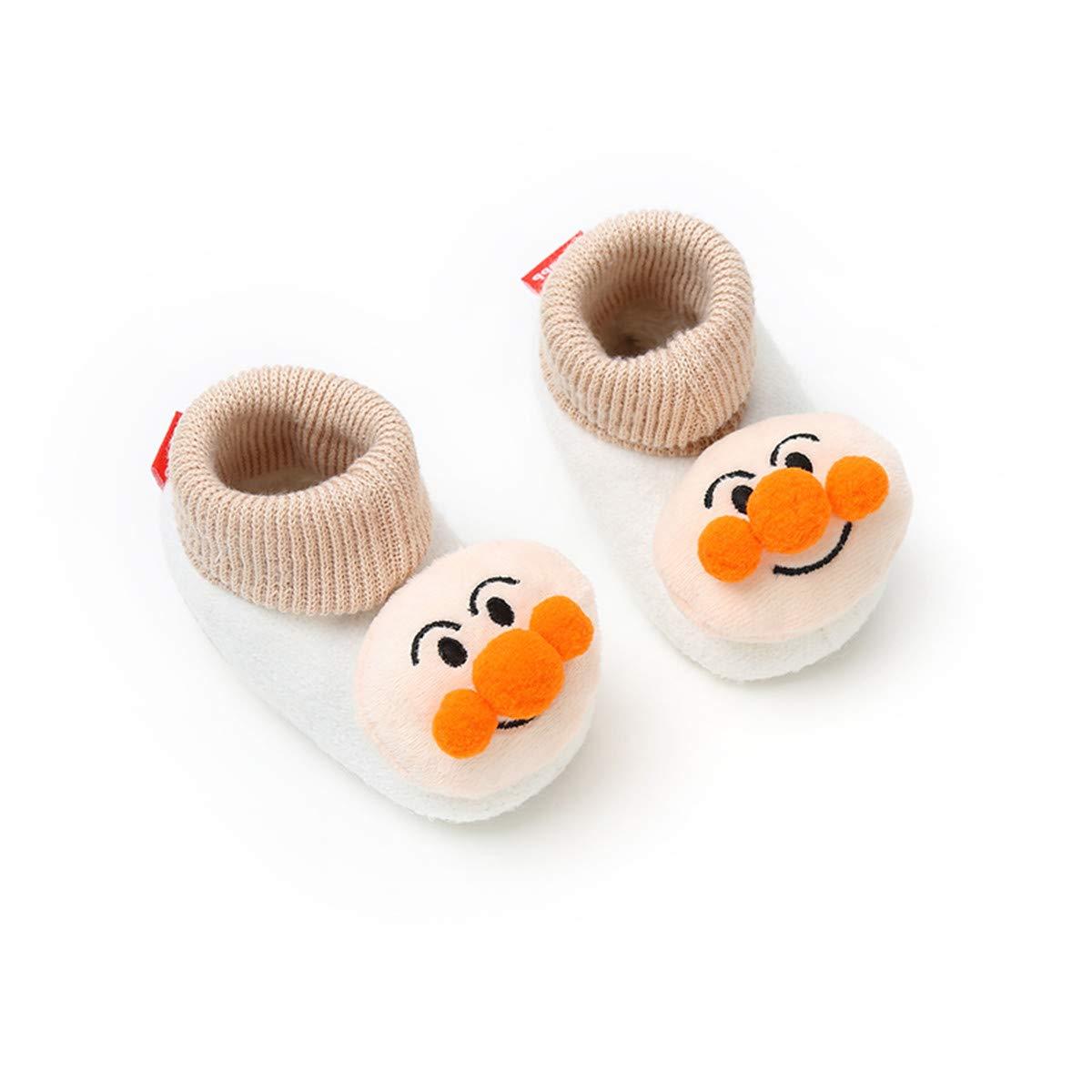 Sakuracan Baby Boys Girls Cozy Fleece Booties with Non-Slip Bottom Warm Winter Slippers Infant Crib Socks