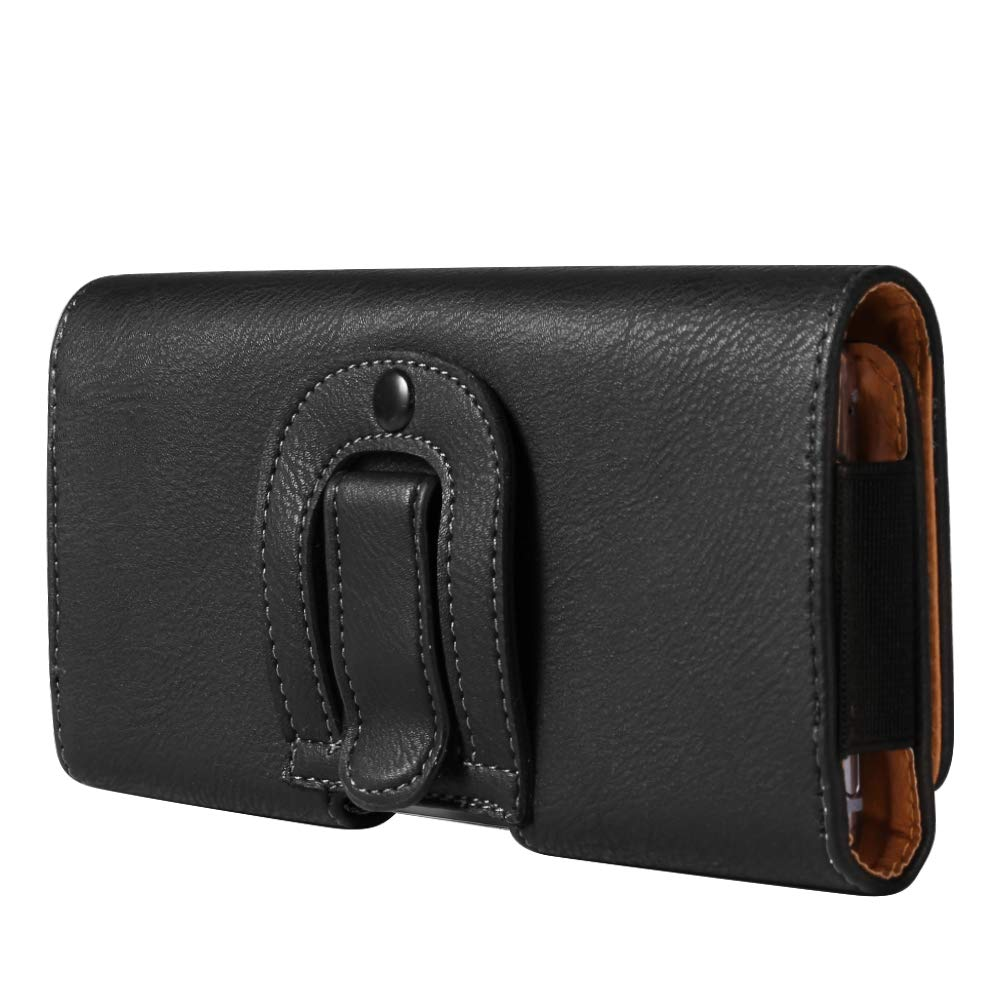 J6+ Note 8 6.4 Universal Texture Cellphone Horizontal Belt Clip Holster Compatible for Samsung Galaxy Note 9 Motorola E5 Plus//Huawei Y9 A70 A80 A9 J4 OnePlus 7 Pro//Alcatel 7