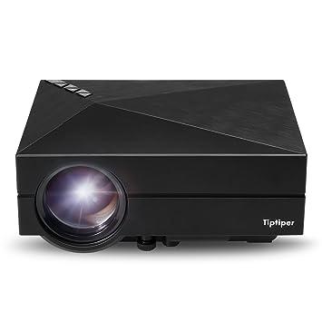 Tiptiper Proyector Full HD LED Vídeo 1000 Lúmenes LP-P02 Proyector Portátil Home Cinema 1080P Alta Resolución Mini Proyector LCD para Cine Teatro ...
