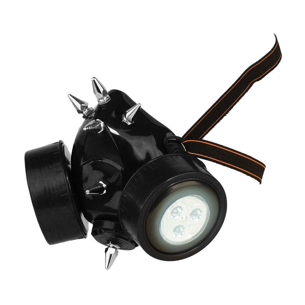 masque de protection respiratoire avec pointes en m/étal pour d/éguisement Masque /à gaz Steampunk masque de protection carnaval style gothique steampunk/// amateurs de musique /électro