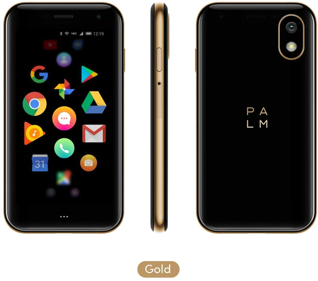 Palm Phone PVG100 (The Small Premium Unlocked Phone) with 32GB Memory and 12MP Camera (Gold)