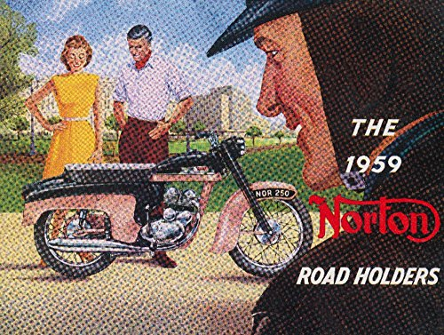 The 1959 Norton Road Holders Vintage Poster USA c. 1959