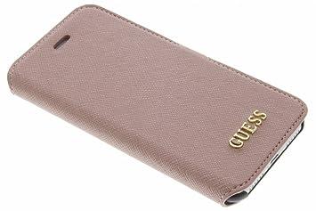 Guess 4G iPhone 8 iPhone 7 Uptown Booktype Leder Tasche (GUFLBKP74GG) Grau