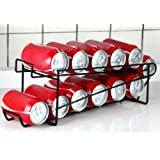 Stylish Sturdy Steel Can Beverage Dispenser Rack Organizer, Black (Dispenser)