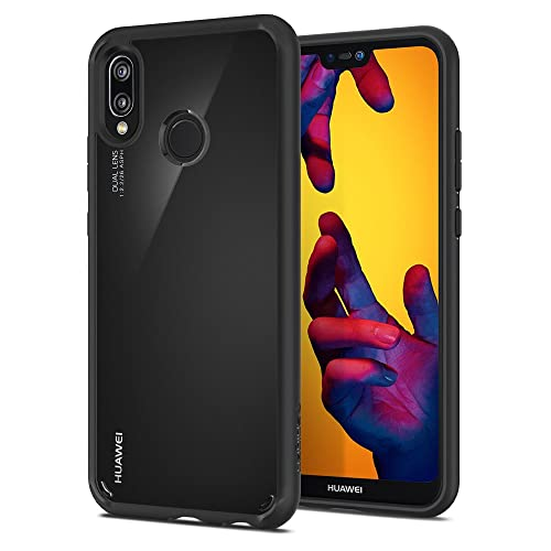 Spigen Ultra Hybrid Huawei P20 lite Case with Air Cushion Technology and Clear Hybrid Drop Protection for Huawei P20 lite (2018) - Black