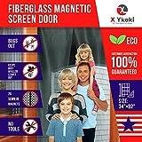 MAGNETIC SCREEN DOOR – Screen Door Curtain with Magnets New 2018 Bug Screen Fits Door Size up to 34''-82'' Instant Retractable Magnetic Curtain Front Patio Doors Heavy Duty Fiberglass Mesh
