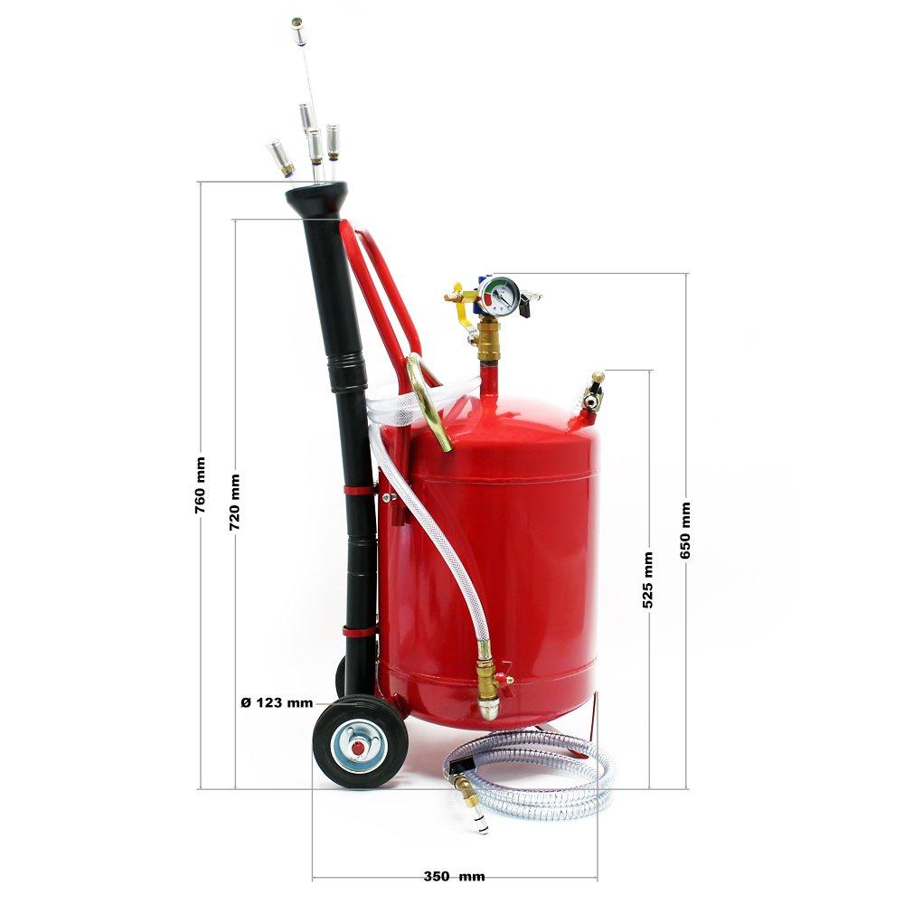 Pneumatisches /Ölabsaugger/ät mit 22,7 L Tank f/ür /Ölwechsel und /Ölentnahme