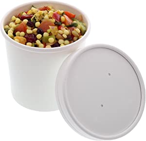 Royal 12 Ounce White Paper Food Container and Lid Combo, Package of 250
