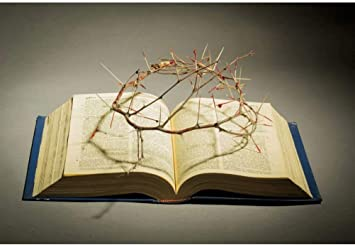 Amazon Com Dashan 14x10ft Holy Bible Crown Of Thorns Backdrop Christian Jesus Prayer Easter Party Wallpaper Photography Background Bible School Church Baptism Activities Belief Banner Portrait Photo Prop Camera Photo