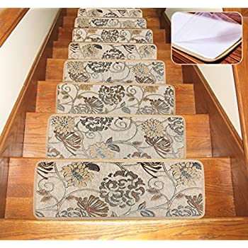 Amazon.com: Soloom Carpet Stair Treads Indoor Set of 13 Blended ...