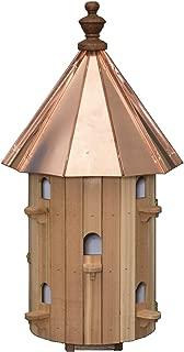 "product image for Saving Shepherd 10 Room Cedar Birdhouse - 30½"" Copper Top Finch Bird Condo House Amish Handcrafted in Lancaster Pennsylvania USA"