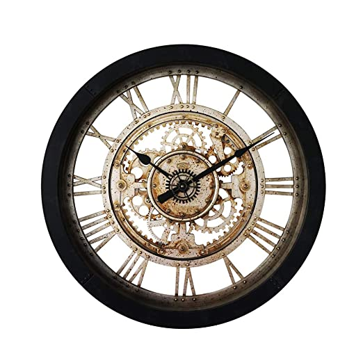 Horloge Murale Horloge à Quartz à Engrenages Ronds Horloge