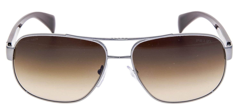 51e6724b06 Prada PR52PS Sunglasses-5AV 6S1 Gunmetal (Brown Gradient Lens)-61mm at  Amazon Men s Clothing store