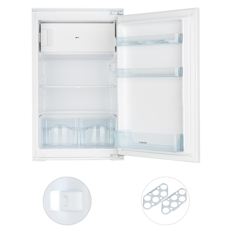 Klarstein Coolzone 120 • nevera con congelador • refrigerador de 61 l • congelador de 24 l • termostato ajustable • 88 cm de altura • potencia nominal de 80 ...