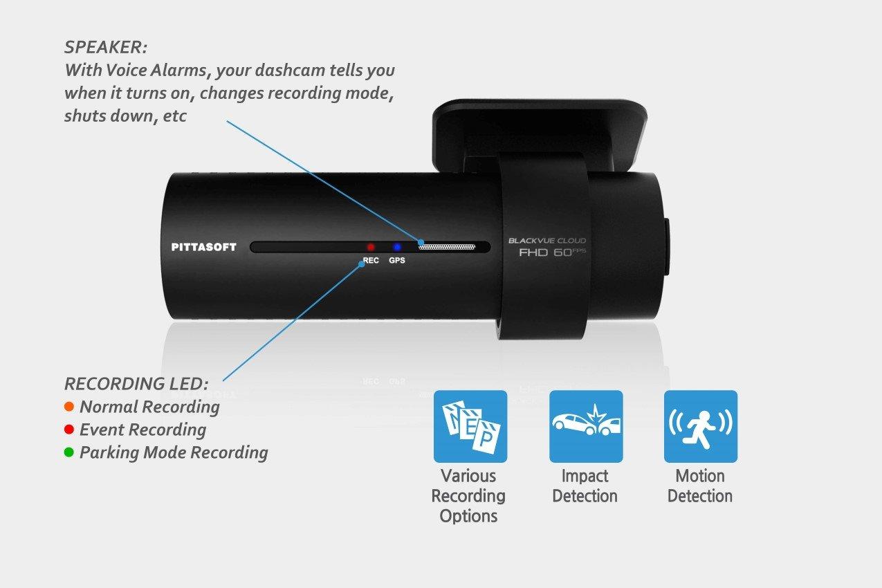 BlackVue DR750S-2CH Dashcam w// 16gb BlackVue MicroSD Card Pittasoft