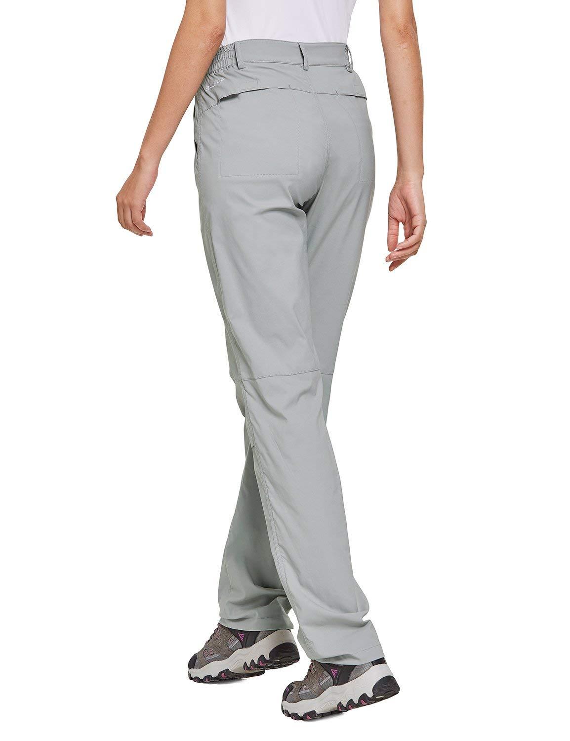 BALEAF Womens Hiking Roll Up Pants Lightweight Traveling Outdoor Pants Water Resistant UPF 50
