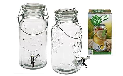 EuroDiscount Dispensador de Bebidas dispensador de Agua con Grifo (en Bormioli Fido Vintage Diseño 4