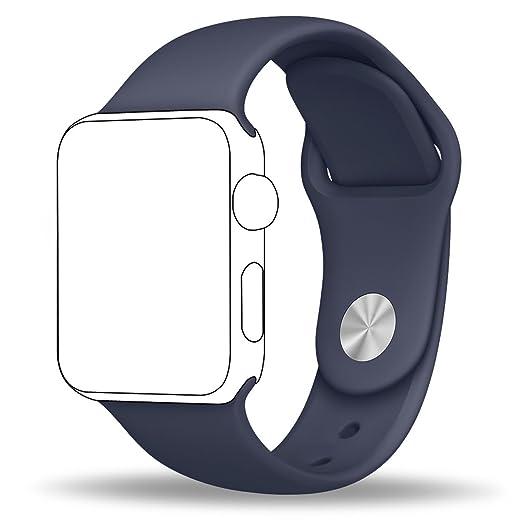 11 opinioni per [3pezzi] Apple Watch Band, Jokhang morbido silicone sport Band [2lunghezze]