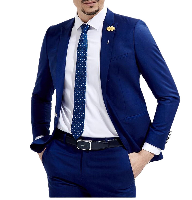 Botong Slim Fit Royal Blue Wedding Suits 2 Pieces Men Suits Groom ...