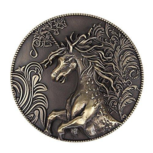 NPET Mens Vintage Wild Horse Western Belt Buckles fits 1.5