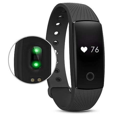 Pulsera Actividad Reloj Inteligente, RIVERSONG Pulsera Deportivo Fitness Tracker Monitor de Ritmo Cardíaca y de