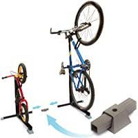 Bike Nook Portable and Stationary Space Saving Bicycle Stand Bike Rack with Adjustable Height, for Indoor Bike Storage, Stand to Stand Connector