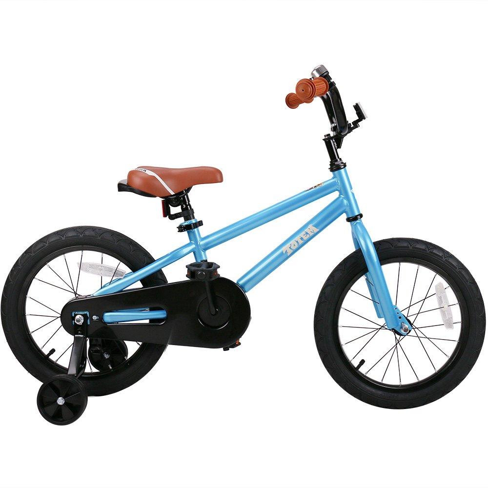 joystar子供用自転車チェーンガードのDIYのステッカー、子供用自転車トレーニングホイールfor Boys & Girls (12、14、16インチ) B07FMYDDCW 14 INCH ブルー ブルー 14 INCH