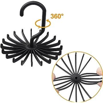 Ladiy 360° Twirl Tie Rack Belt Hanger Holder Hook for Closet Organizer Storag Tie Racks