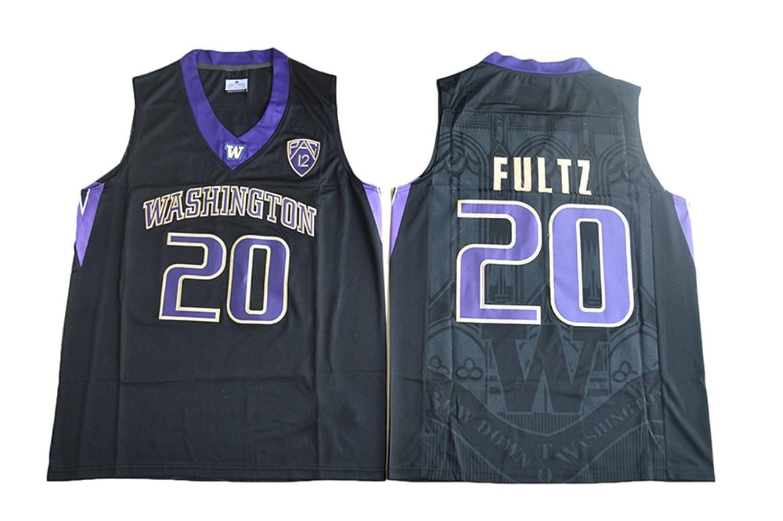 c98eb923c9e Men s Washington Huskies  20 Markelle Fultz College Basketball Black  Stitched Jersey on sale