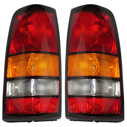 Driver and Passenger Taillights Tail Lamps Replacement for GMC Pickup Truck 19169021 19169022