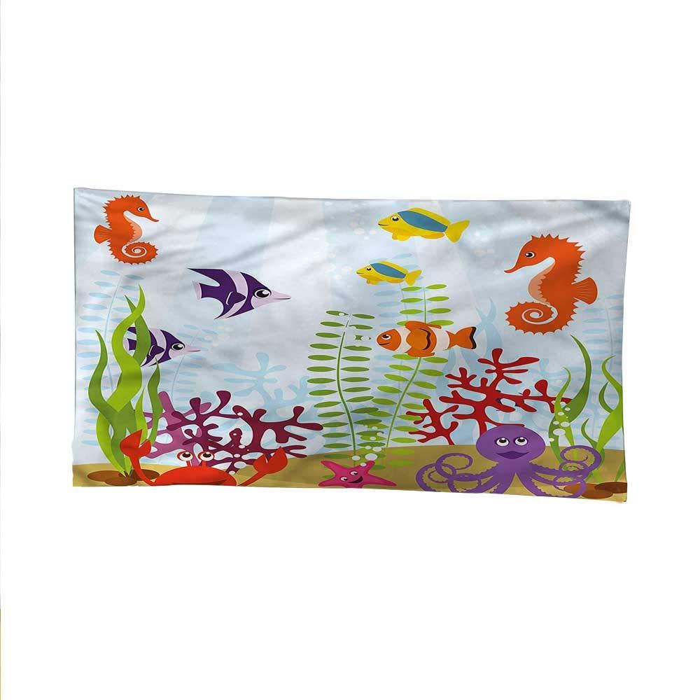 color02 93W x 70L Inch color02 93W x 70L Inch Aquariumsimple tapestryart tapestryTropical Aquatic Habitat 93W x 70L Inch