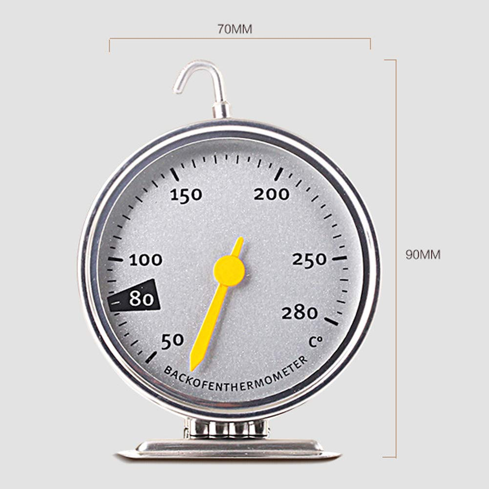 WE-WIN Stainless Steel Hanging Oven Thermometer Home Cooking Thermograph