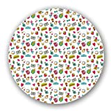 Sweet Little Things Of Love Lazy Susan: Large, Black Melamine Turntable Kitchen Storage Custom Printed