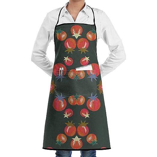 Delantal De Cocina Tela De Tomate Cherry (3506) Con Delantales De ...