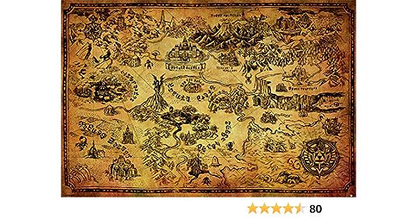 PP33716  maxi poster 61cm x 91.5cm HYRULE MAP THE LEGEND OF ZELDA