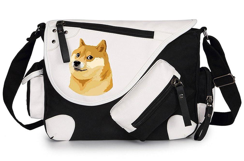 Gumstyle Doge Classic Shoulder School Bag Anime Cosplay Messenger Bag Black