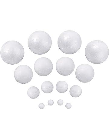 Bolas de Espuma Bolas Blancas de Manualidad de Decoración para Navidad y Proyectos Domésticos de Escuela