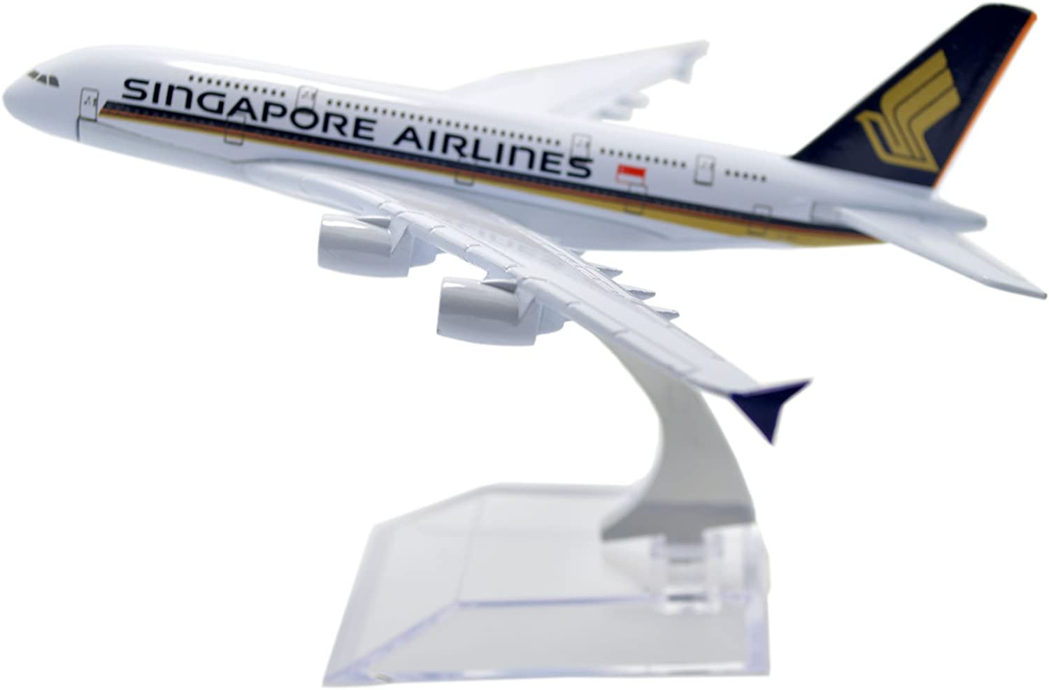 16cm Singapore Airline Airbus A380 Airlines Metal Desk Aircraft Plane Model SIA