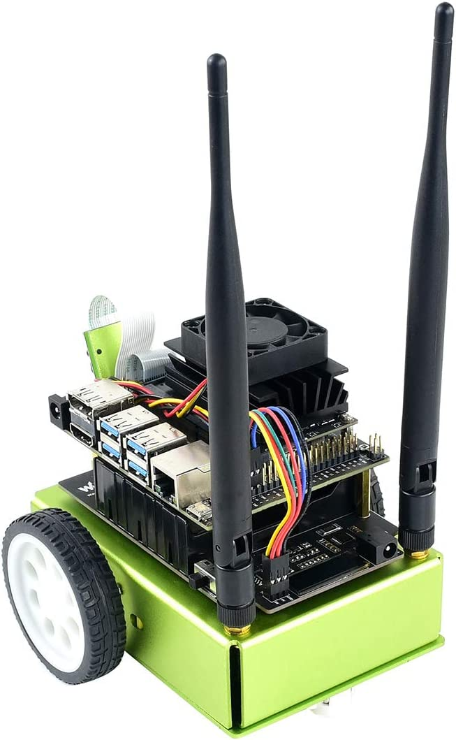 Waveshare JetBot AI Kit Accessories Add-ons for Jetson Nano Developer Kit Green Version to Build JetBot Smart Robot with Expansion Board Onboard TB6612FNG Dual H-bridge Motor Driver