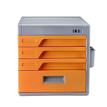 Archivador con 4 cajones,cerradura de combinacion escritorio cajón etiqueta, Evertop armario de archivo,archivador, armario para documentos, papeles, ...