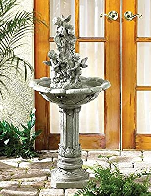 Fountains Statues Cherub Concrete Resin Sculptures Garden Relaxation Waterfall Pond Outdoor Feng Sui Decorative Mainstays