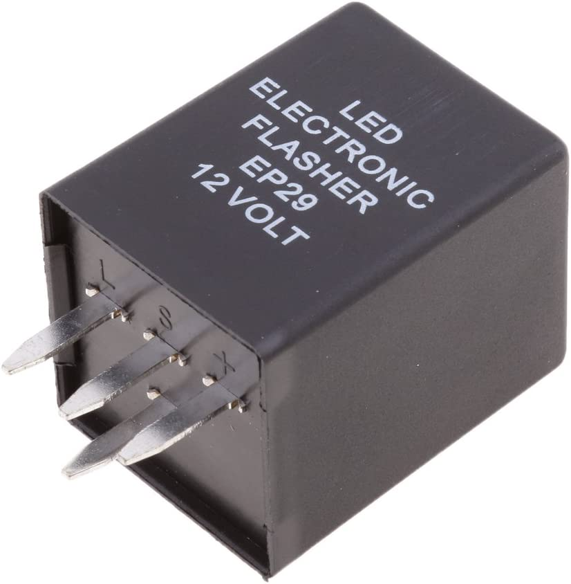 EP29 4-Pin LED Flasher Relay Fix Hyper Flash Turn Signal Decoder Equalizer